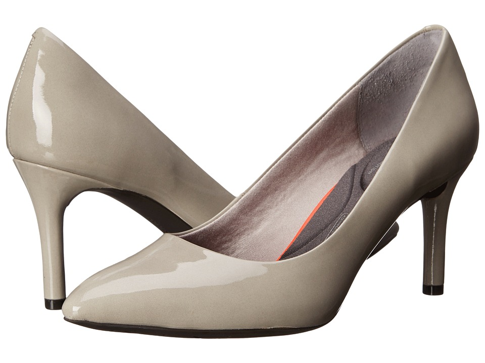 Rockport - Total Motion 75mm Pointy Toe Pump (Smog Patent) High Heels