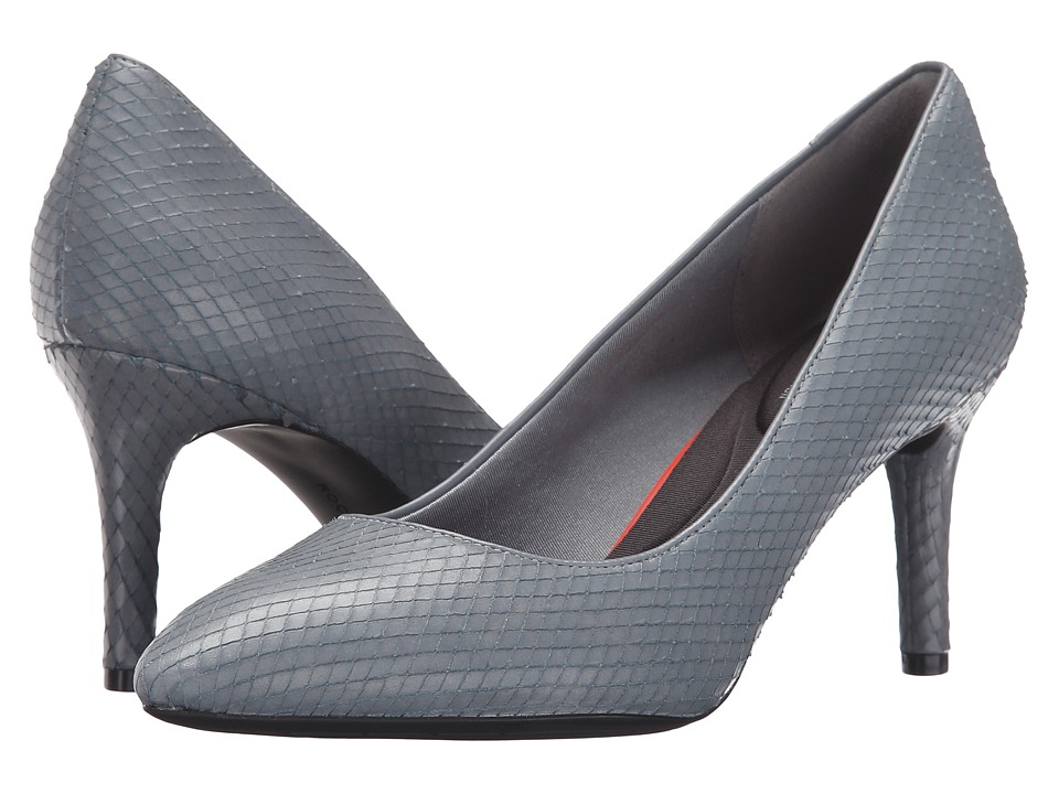 Rockport - Total Motion 75mm Pointy Toe Pump (Icy Blue Diamond Snake) High Heels