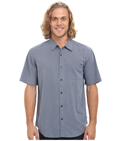 Rip Curl - Clifton Short Sleeve Shirt (Denim Blue) Men