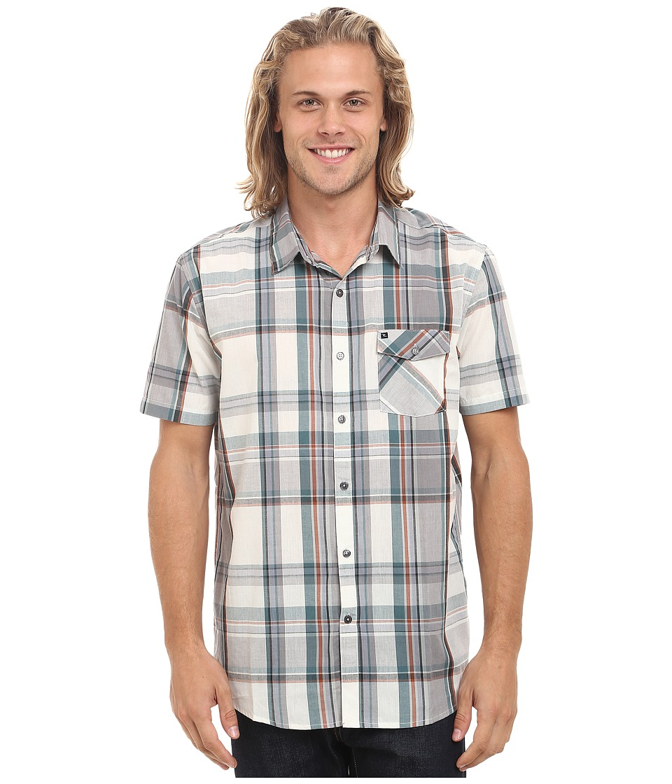Rip Curl - Mancos Short Sleeve Shirt (Off-White) Men's Clothing