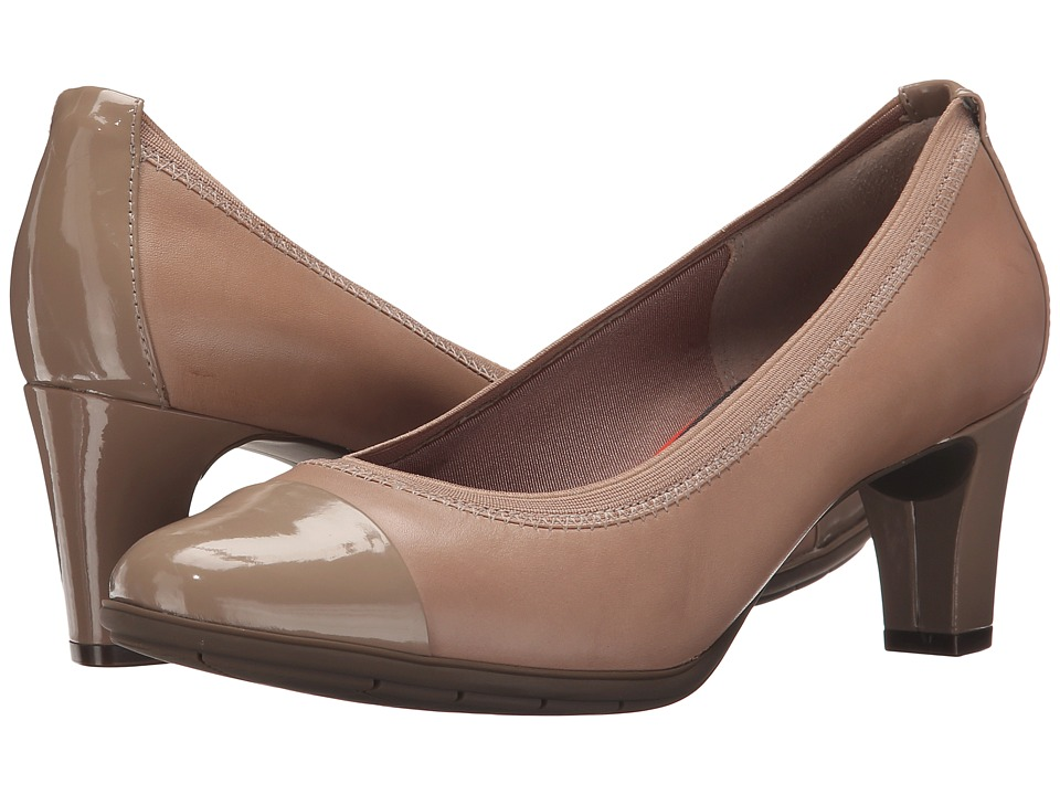 Rockport - Total Motion Melora Gore Cap Toe (Warm Taupe Patent) Women's Shoes