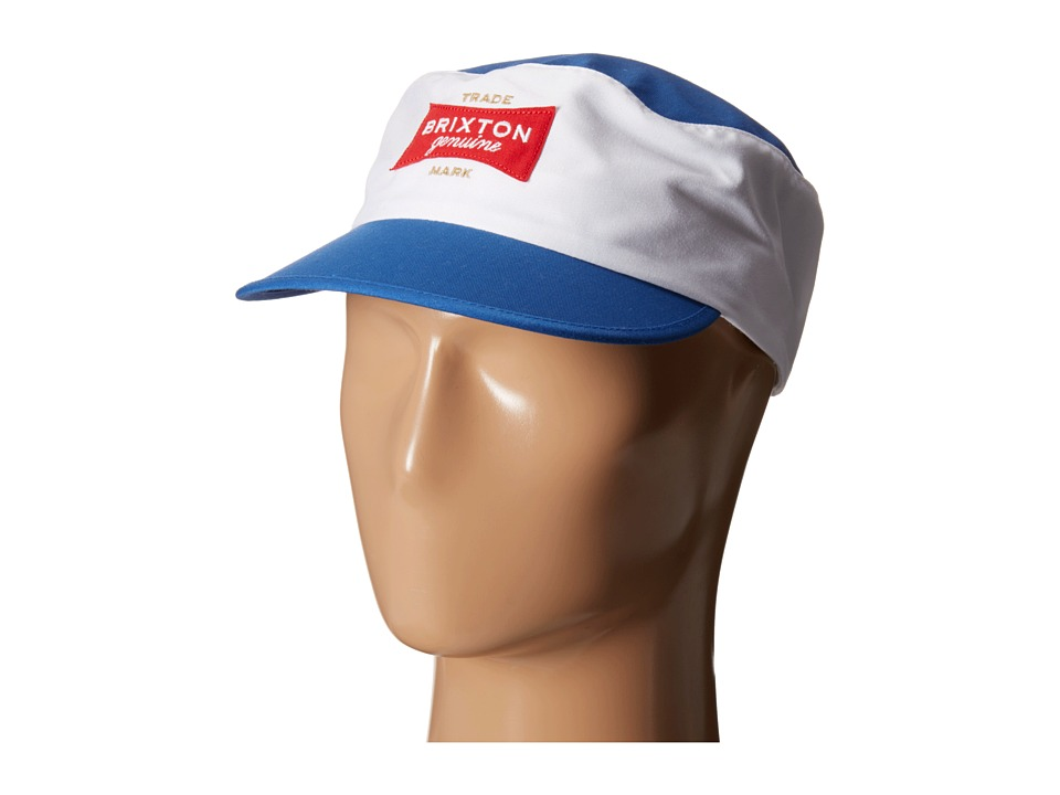 Brixton - Mario Painters Cap (White/Royal) Caps