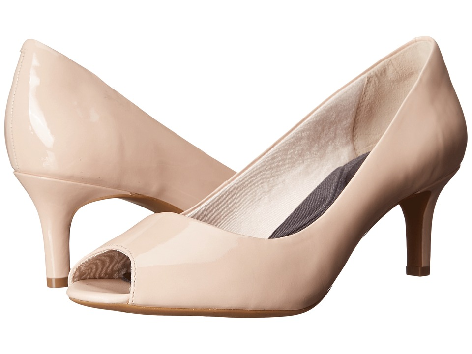 Rockport - Total Motion Finula Peep Toe (Rose Cloud Patent) High Heels
