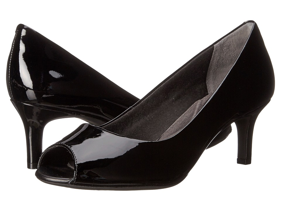 Rockport - Total Motion Finula Peep Toe (Black Patent) High Heels
