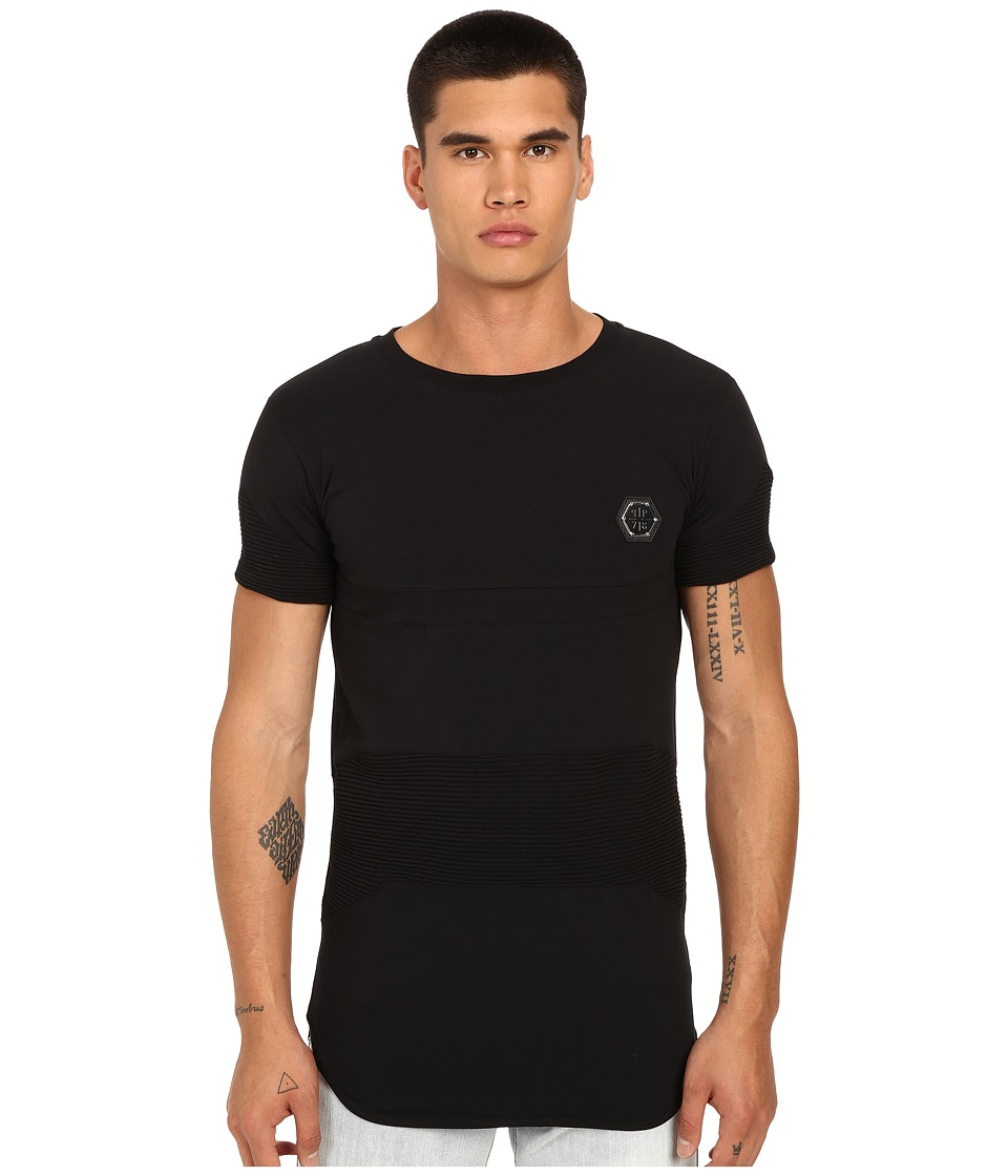 Philipp Plein - Exagon Drop Tail T-Shirt (Black) Men's T Shirt