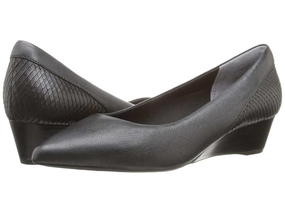 Rockport - Total Motion Annett Wedge (Black Goat/Diamond Snake) Women's Wedge Shoes