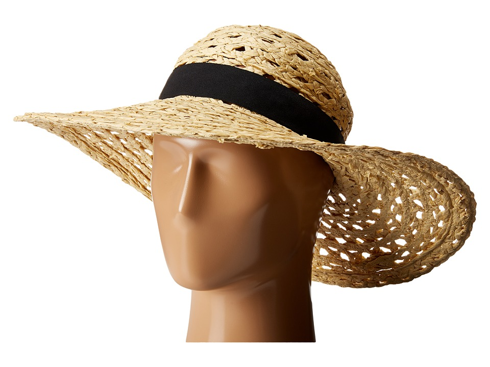 Vince Camuto - Open Weave Floppy Hat (Natural) Caps