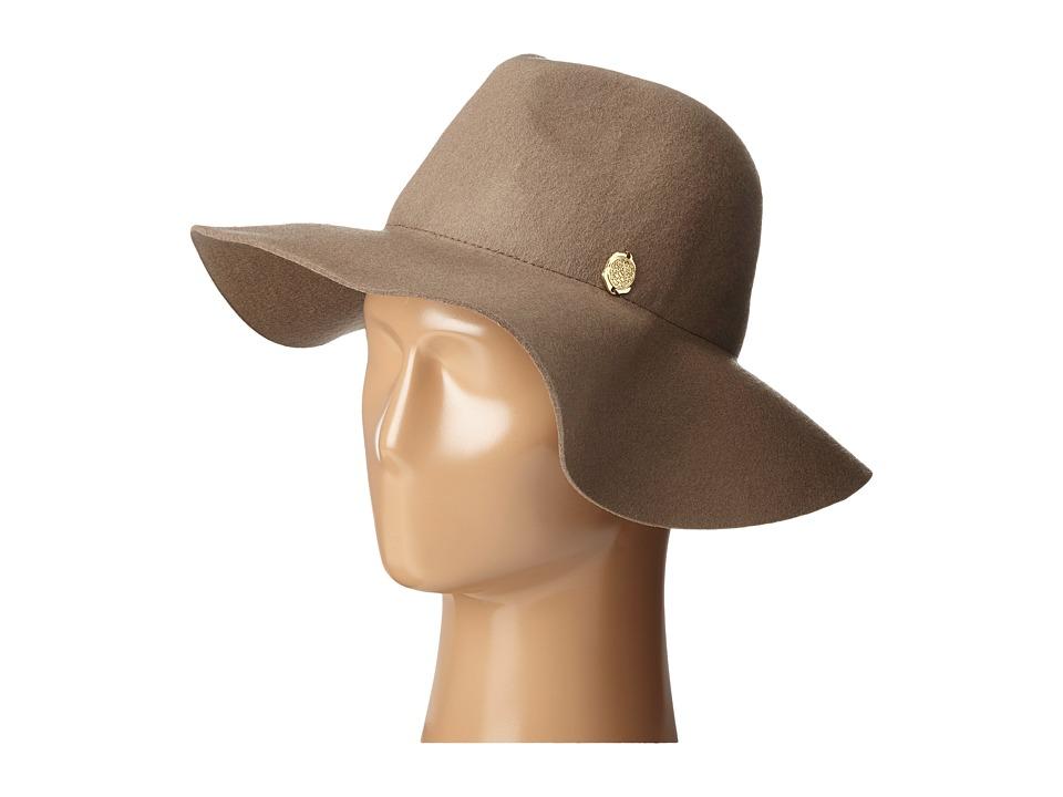 Vince Camuto - Wool Felt Panama Hat (Brown) Caps