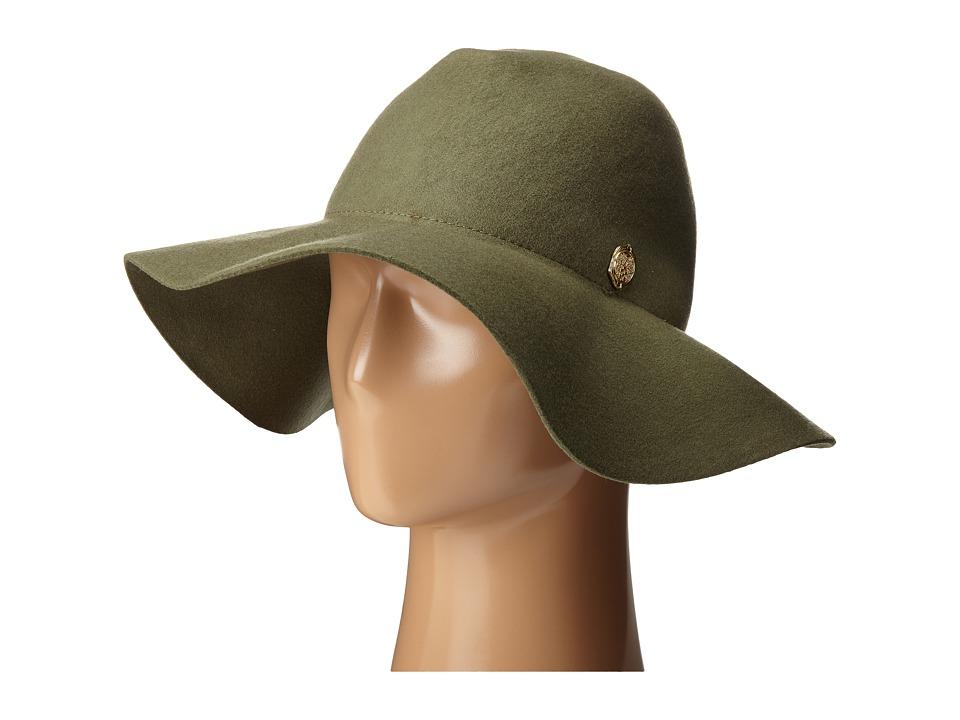 Vince Camuto - Wool Felt Panama Hat (Olive) Caps