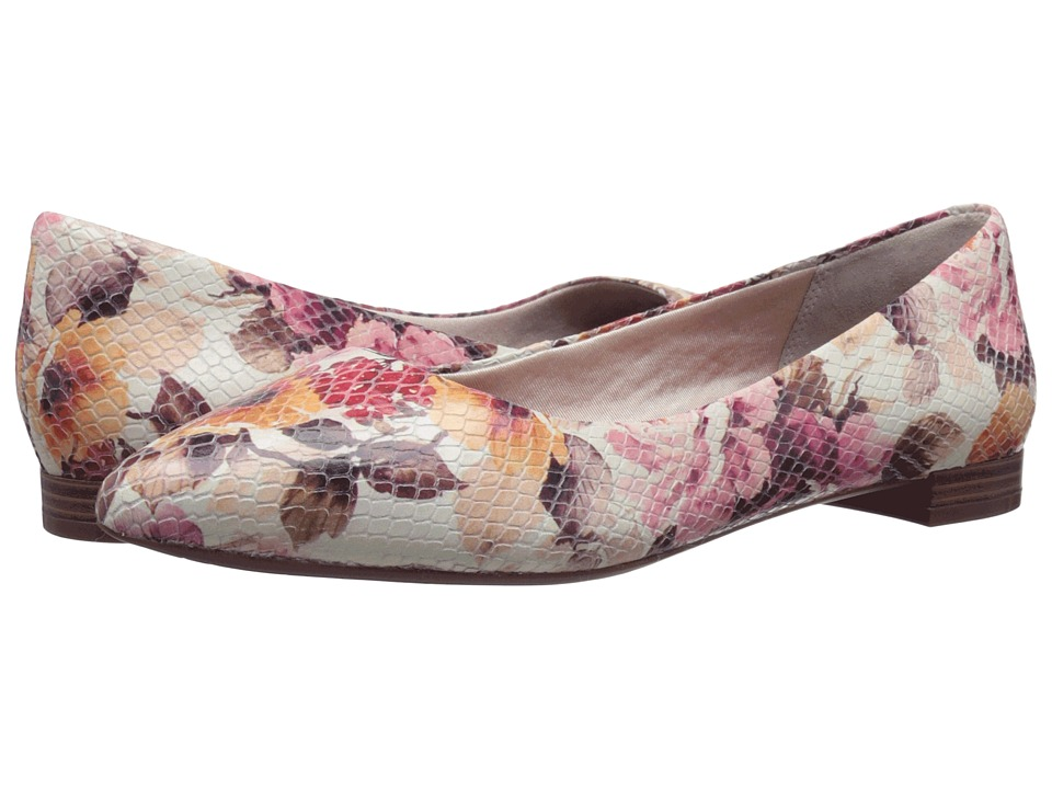 Rockport Total Motion Adelyn Ballet (Pink Floral Leather) Women