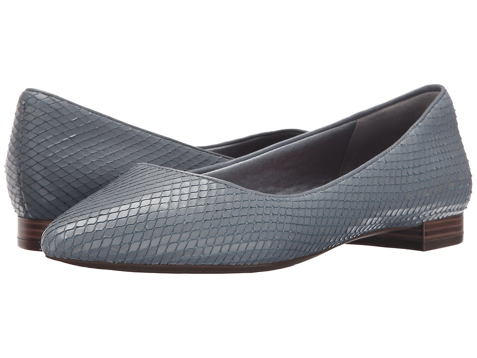 Rockport - Total Motion Adelyn Ballet (Icy Blue Diamond Snake) Women's Dress Flat Shoes