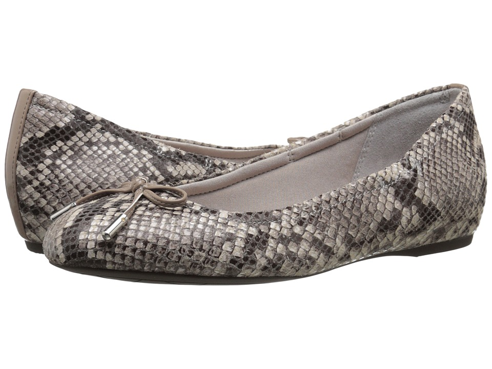 Rockport - Total Motion Hidden Wedge Tied Ballet (Roccia Python) Women's Flat Shoes
