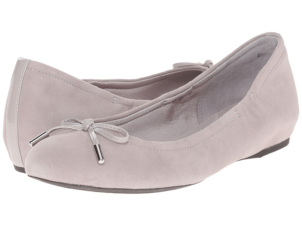 Rockport - Total Motion Hidden Wedge Tied Ballet (Smog Kid Suede) Women's Flat Shoes