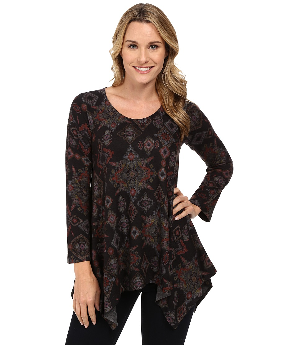 Nally & Millie - Ikat Sharkbite Tunic (Multi) Women's T Shirt