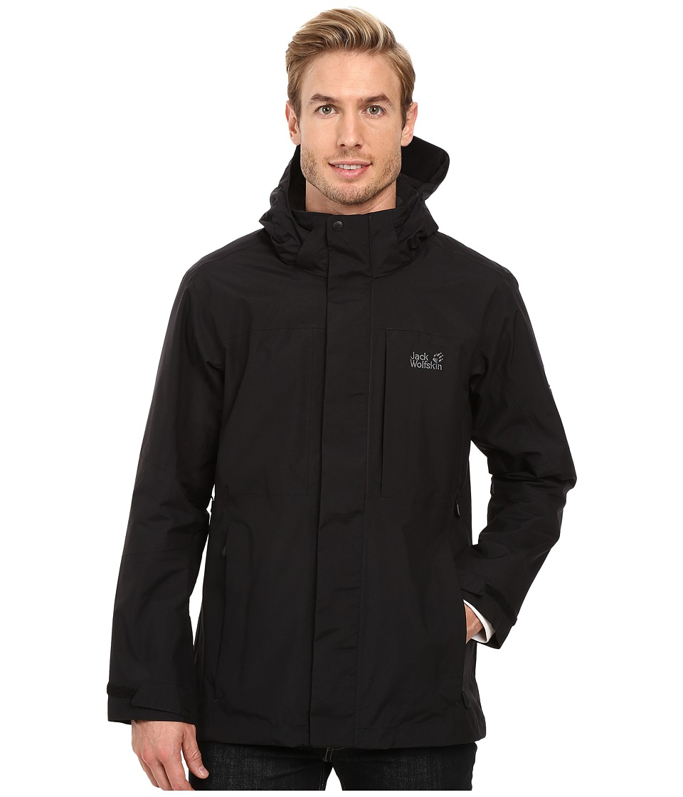 Jack Wolfskin - Brooks Range Flex Jacket (Black) Men's Coat