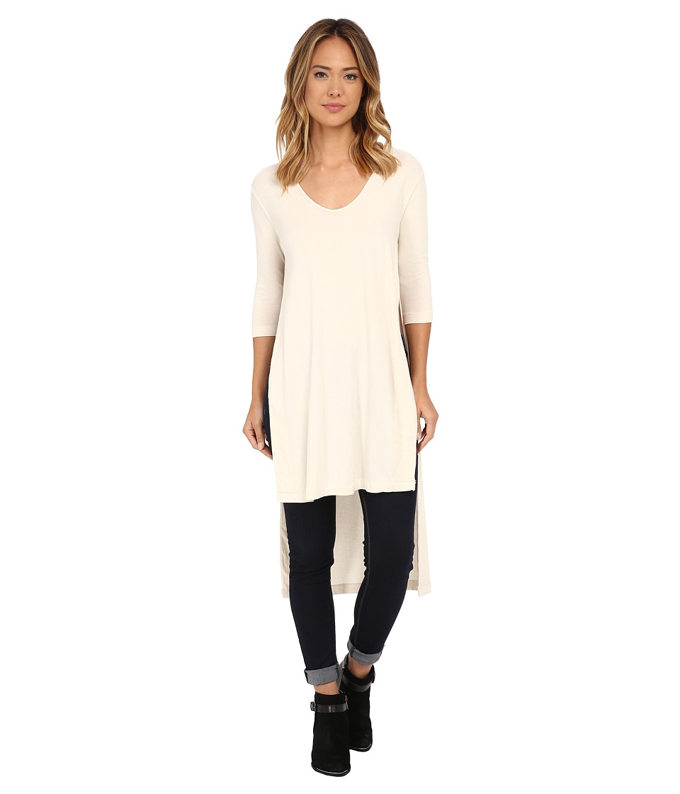 Free People - Super Cycle Jersey Bad Girls Tunic (Ivory) Women