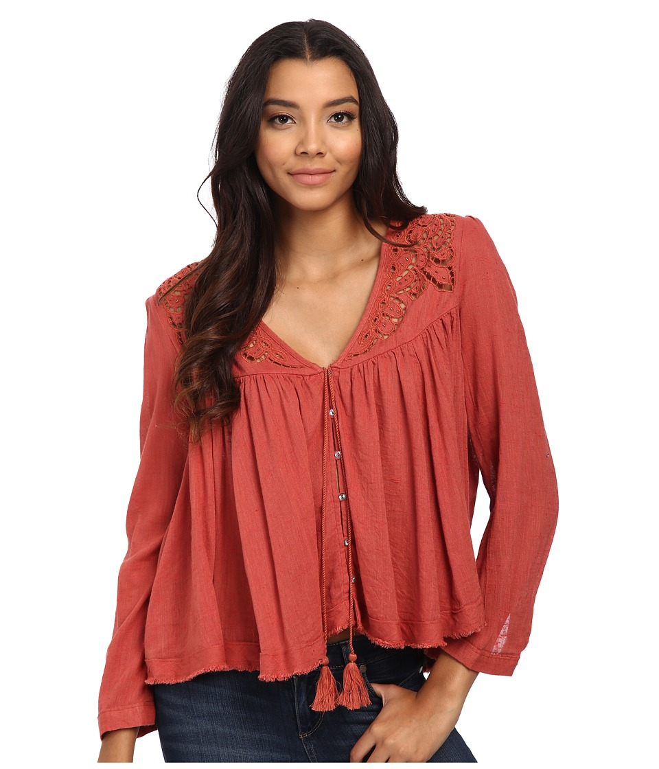 Free People - Doing It Right Button Down Woven Top (Sunset) Women's Clothing