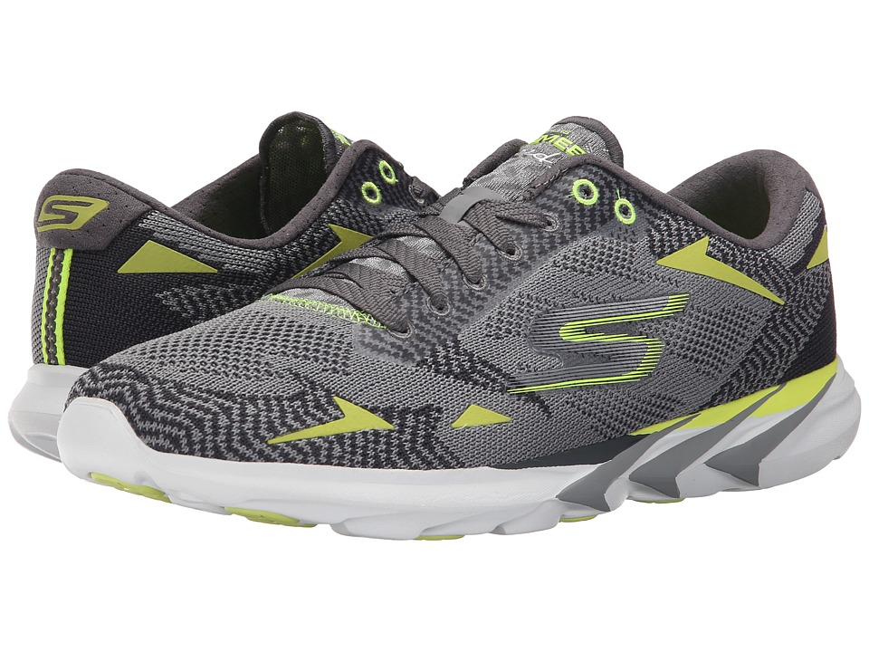 SKECHERS - Go Meb Speed 3 (Charcoal/Lime) Men's Running Shoes