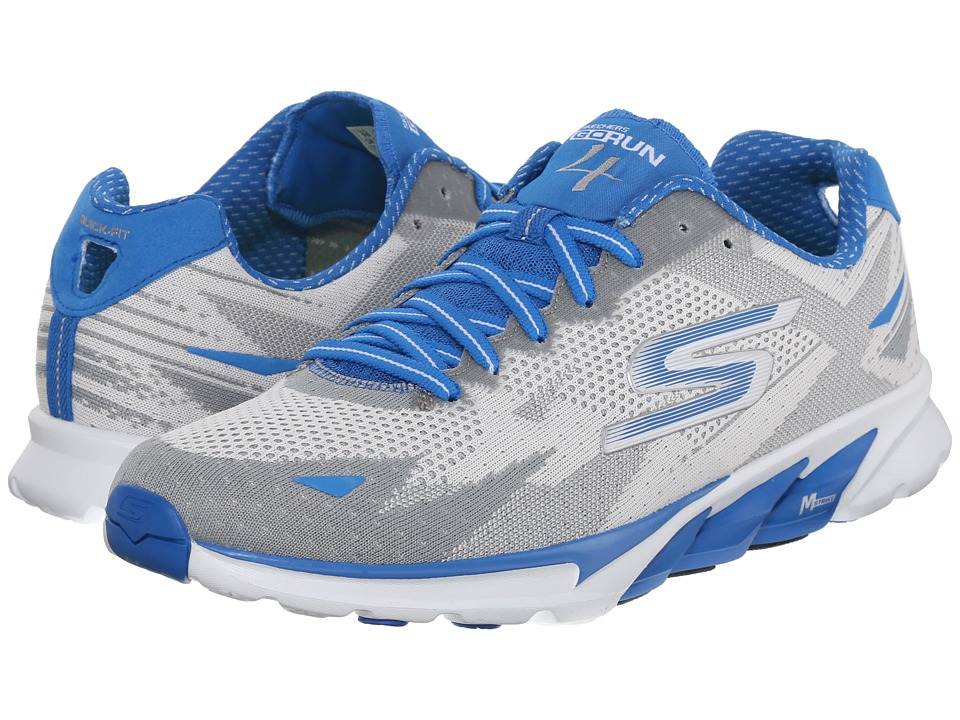SKECHERS Go Run 4 2016 (White/Blue) Men