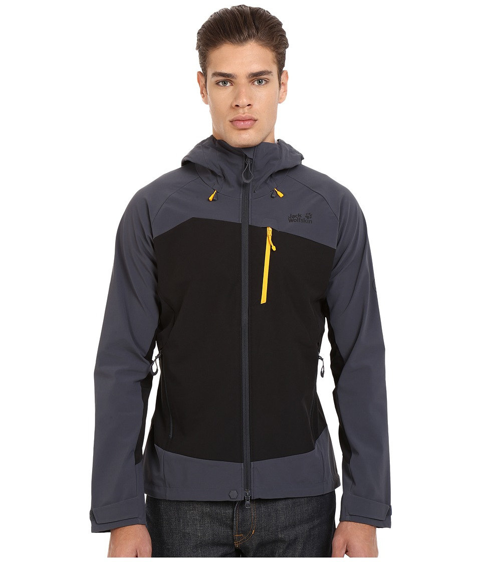 Jack Wolfskin - Gravity Flex Jacket (Black) Men's Jacket