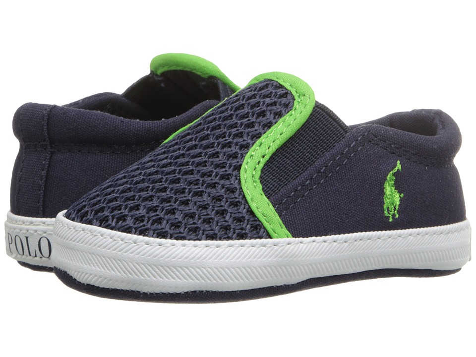 Polo Ralph Lauren Kids - Benton (Infant/Toddler) (Navy/Green) Boy's Shoes