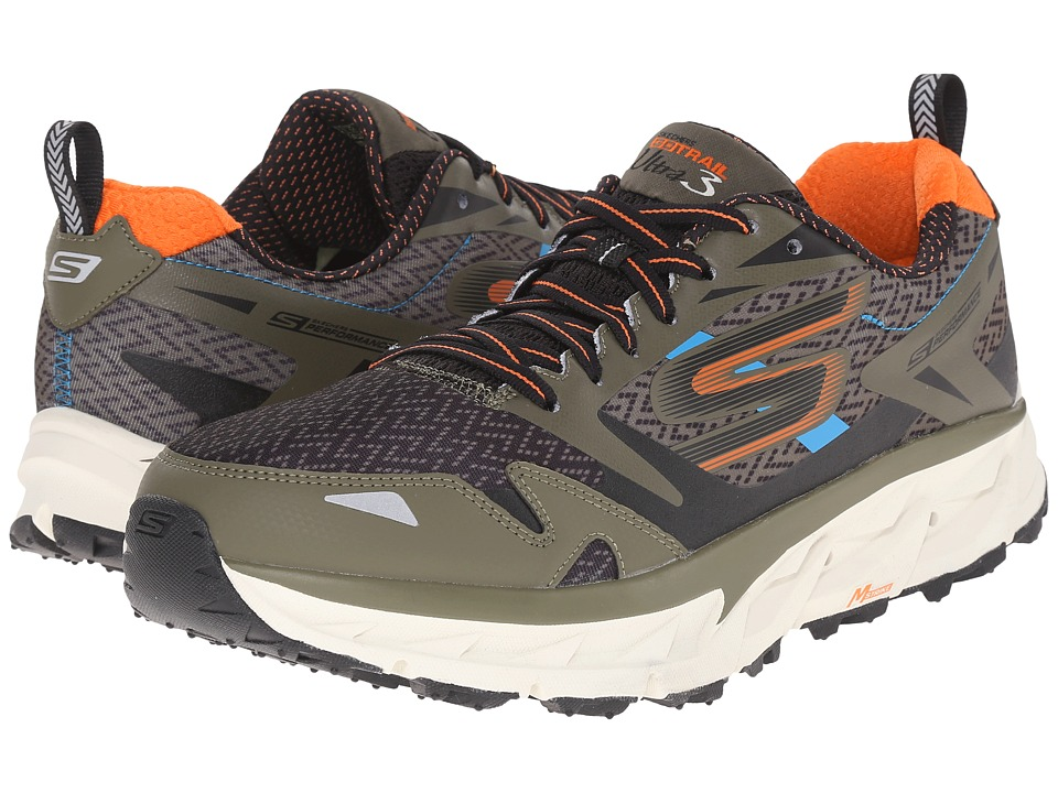 SKECHERS Go Ultra Trail 3 (Olive/Orange) Men