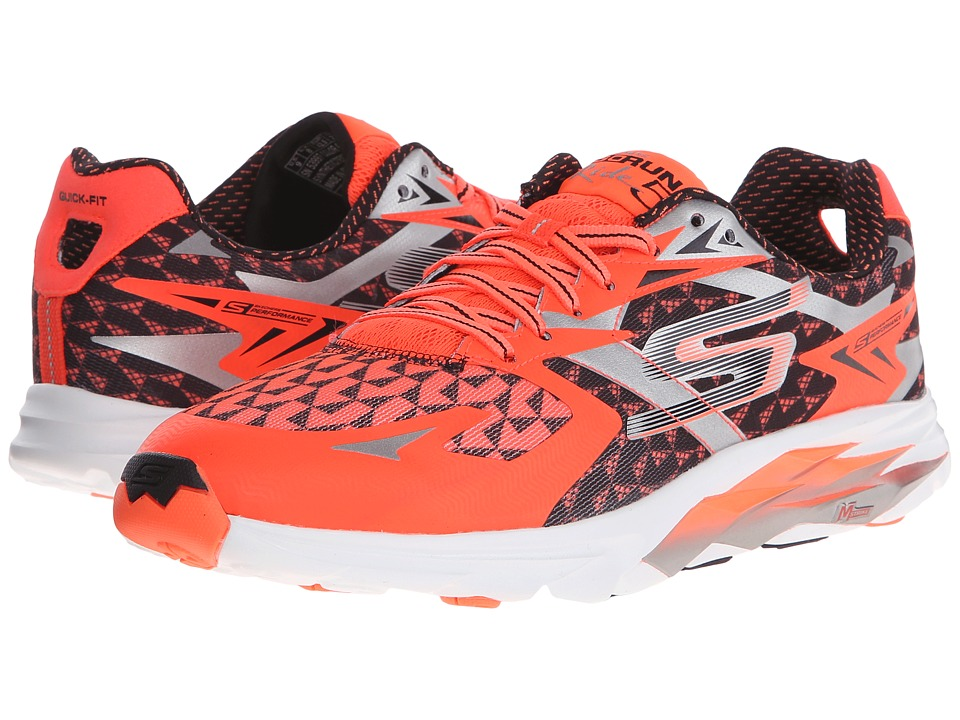 SKECHERS - Go Run Ride 5 (Orange/Black) Men's Running Shoes