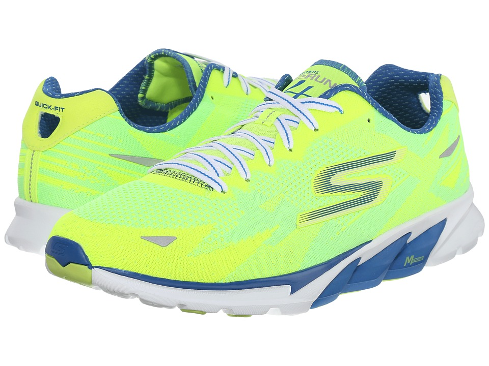 SKECHERS Go Run 4 2016 (Lime/Blue) Men