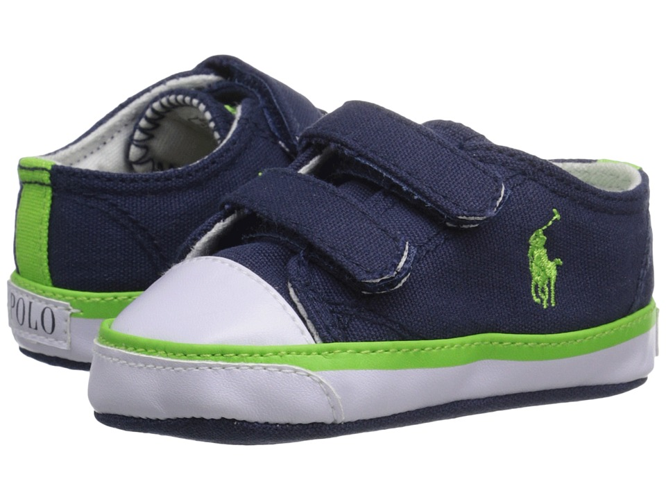 Polo Ralph Lauren Kids - Carson II EZ (Infant/Toddler) (Navy/Green) Boys Shoes