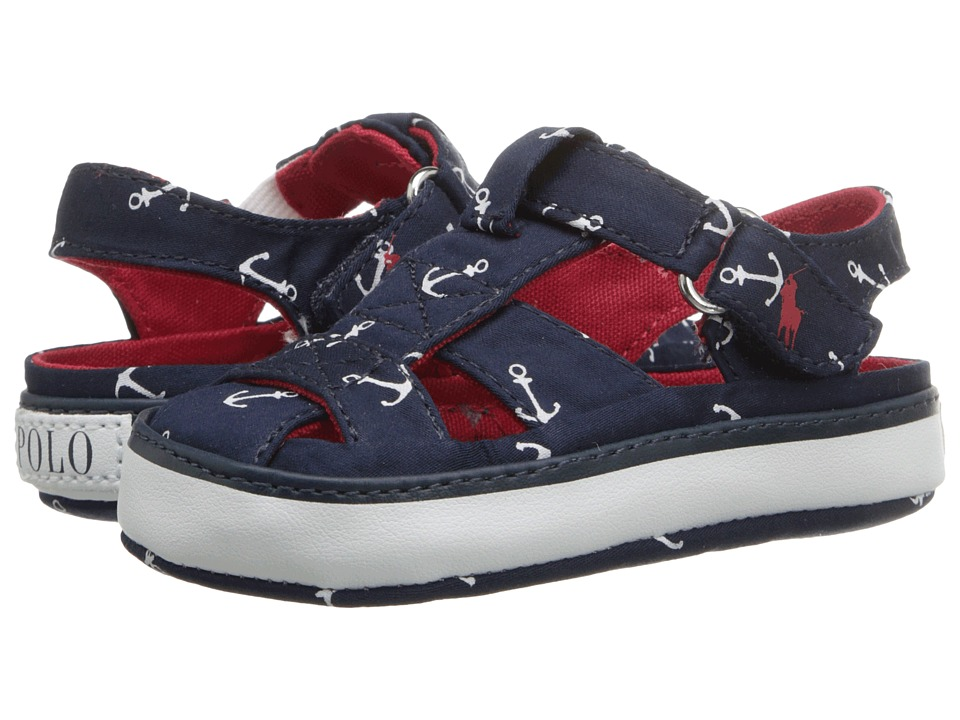 Polo Ralph Lauren Kids - Sander Fisherman II (Infant/Toddler) (Navy Anchor Print) Boys Shoes