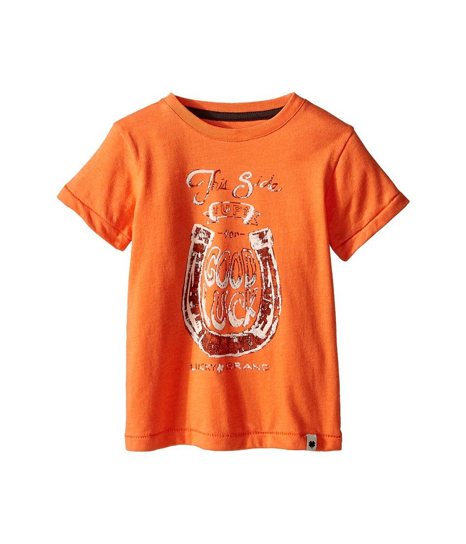 Lucky Brand Kids - Good Luck Tee (Toddler) (Firecracker) Boy's T Shirt