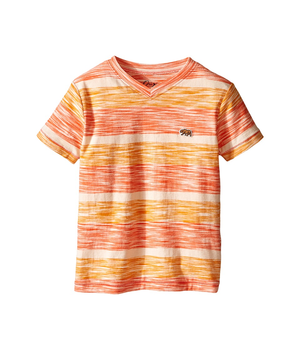 Lucky Brand Kids - Slub Stripe V-Neck (Little Kid/Big Kid) (Firecracker) Boy's T Shirt