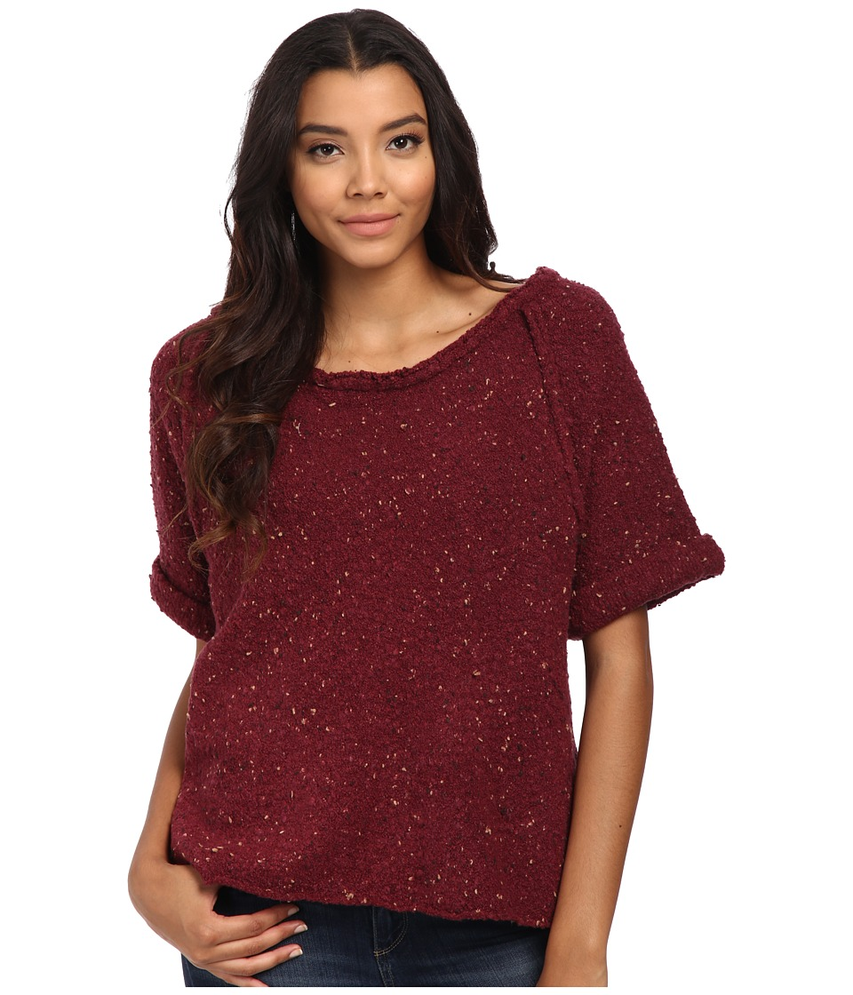 Free People - Tweed Top Sweater (Marsala) Women's Sweater