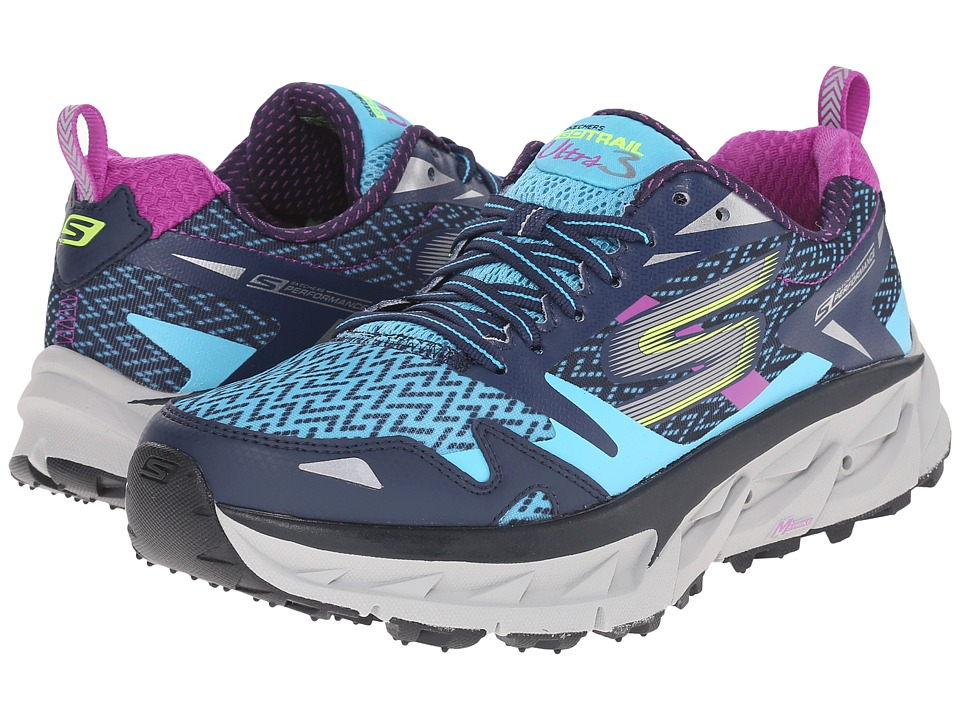 SKECHERS - Go Ultra Trail 3 (Navy/Blue) Women's Running Shoes