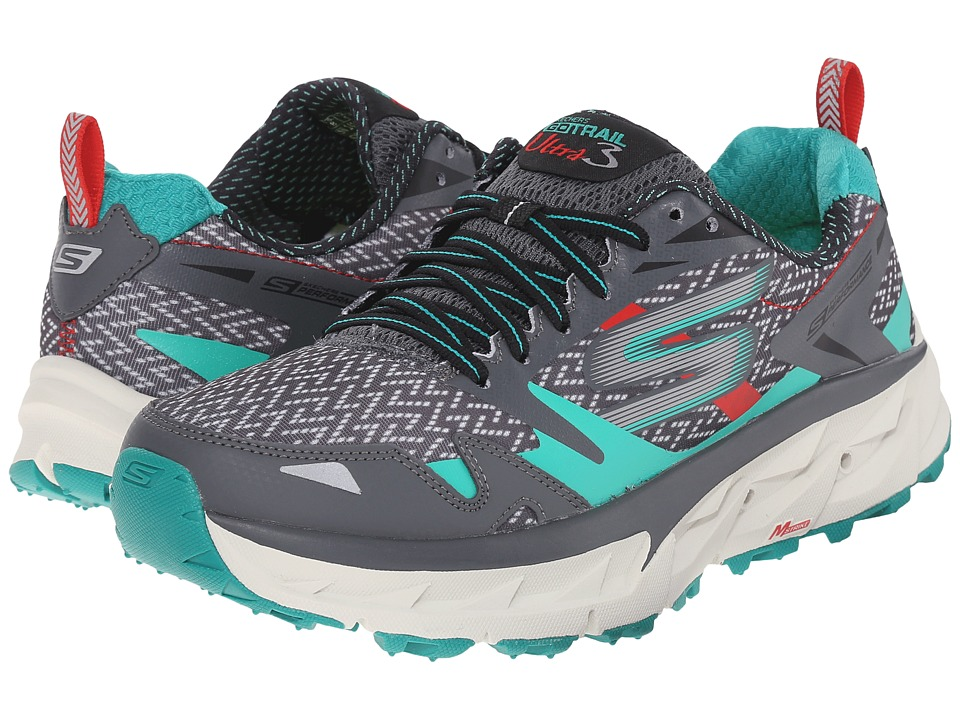 SKECHERS - Go Ultra Trail 3 (Charcoal/Teal) Women's Running Shoes