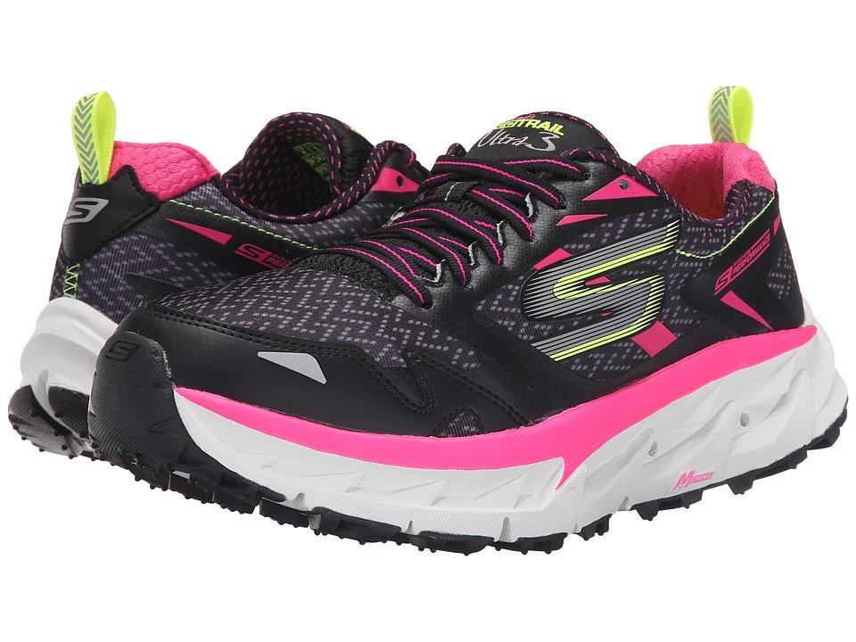 SKECHERS Go Ultra Trail 3 (Black/Hot Pink) Women