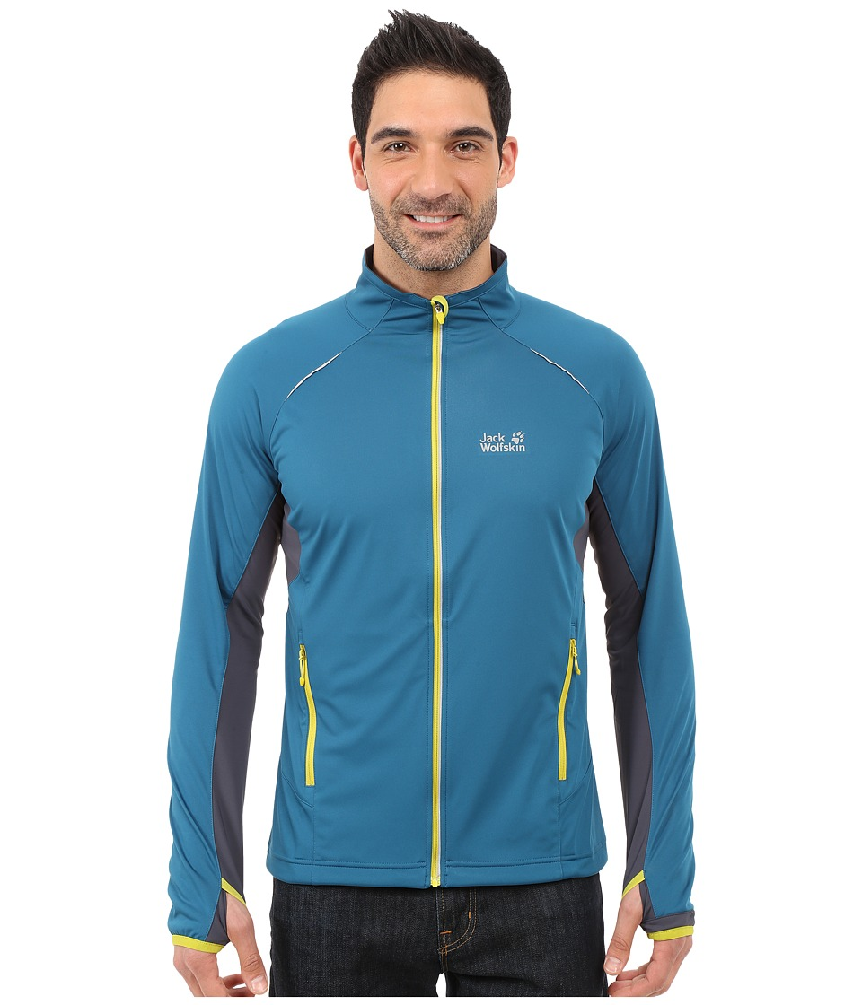 Jack Wolfskin - Exhalation Softshell Jacket (Moroccan Blue) Men's Coat