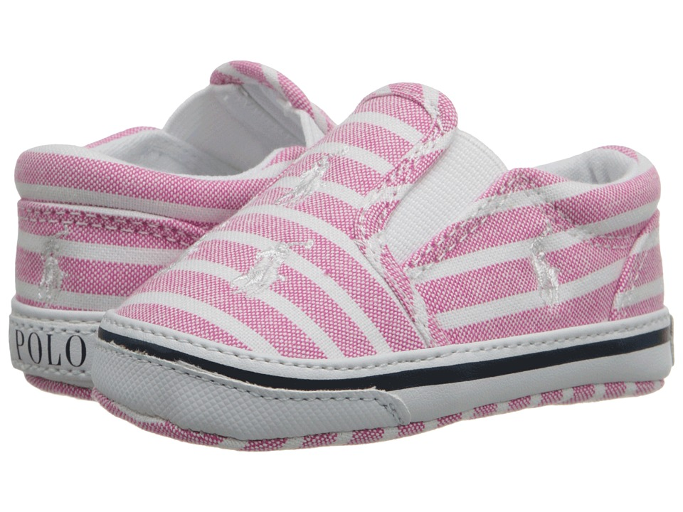 Polo Ralph Lauren Kids - Bal Harbour Repeat (Infant/Toddler) (Pink Bangal Stripe) Girls Shoes