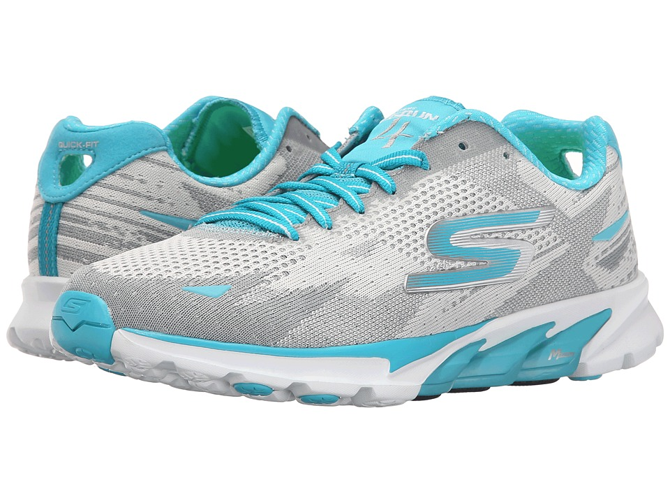 SKECHERS - Go Run 4 - 2016 (White/Turquoise) Women's Running Shoes