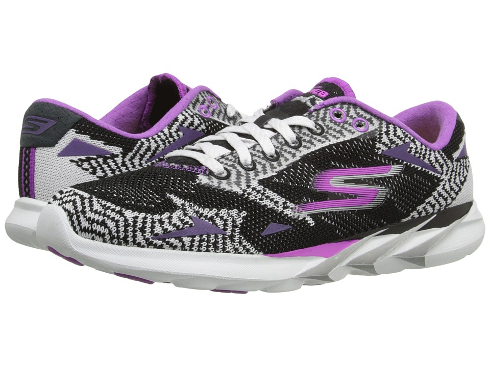 SKECHERS - Go Meb Speed 3 (Black/White) Women's Running Shoes