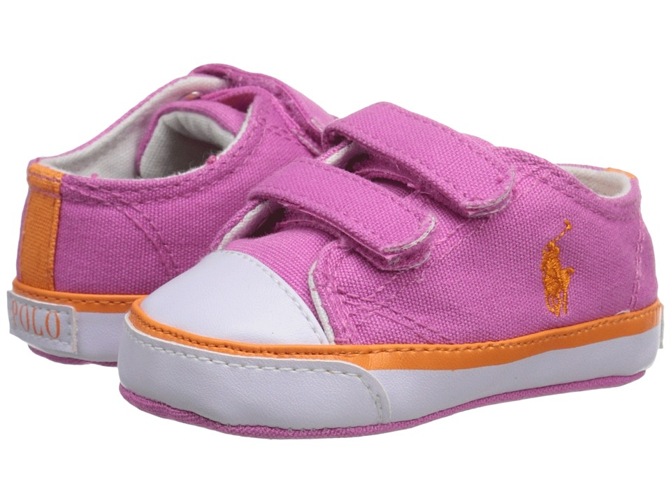 Polo Ralph Lauren Kids - Carson II EZ (Infant/Toddler) (Regatta Pink/Orange) Girls Shoes