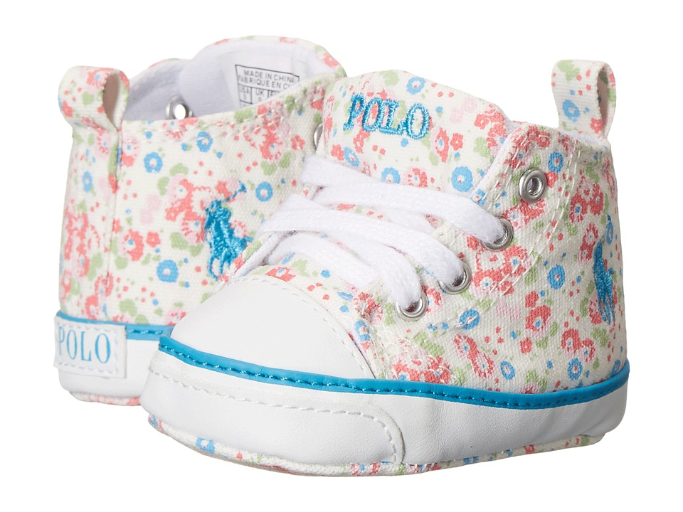 Ralph Lauren Layette Kids - Harbour Hi (Infant/Toddler) (White Mini Floral) Girls Shoes
