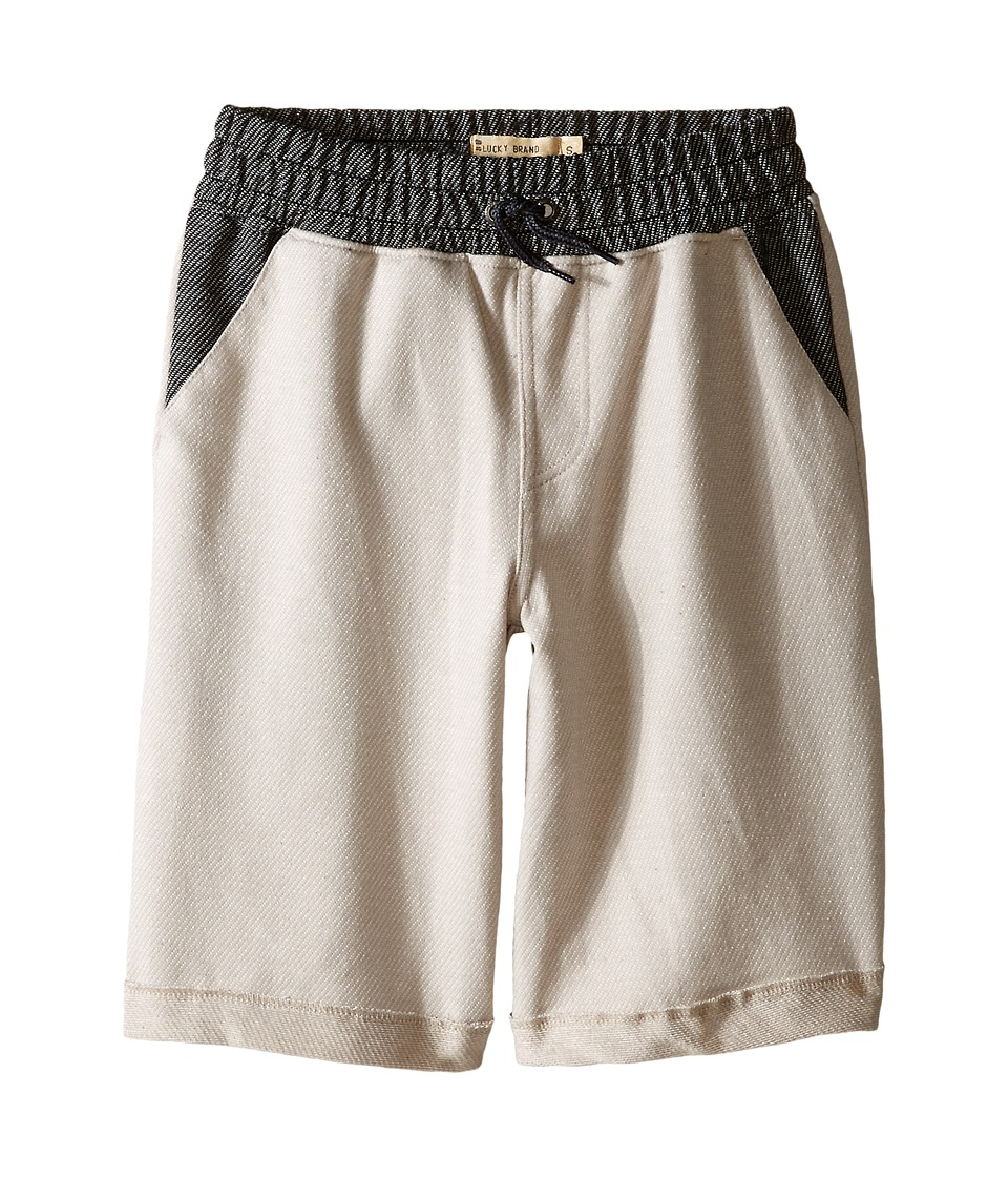 Lucky Brand Kids - Two-Tone Shorts (Big Kid) (Silver Cloud) Boy's Shorts