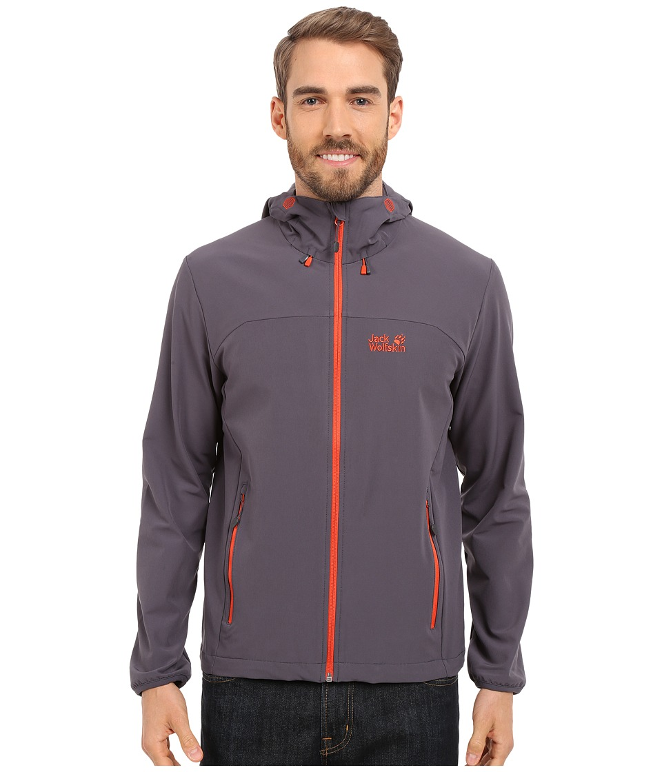 Jack Wolfskin Turbulence Jacket (Ebony) Men