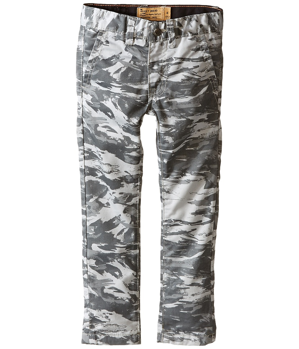 Lucky Brand Kids - Camo Slim Fit Pants (Little Kid/Big Kid) (Silver Cloud) Boy's Casual Pants