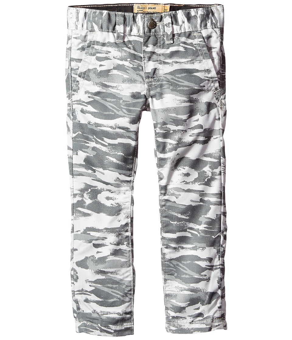 Lucky Brand Kids - Camo Slim Fit Pants (Toddler) (Silver Cloud) Boy's Casual Pants