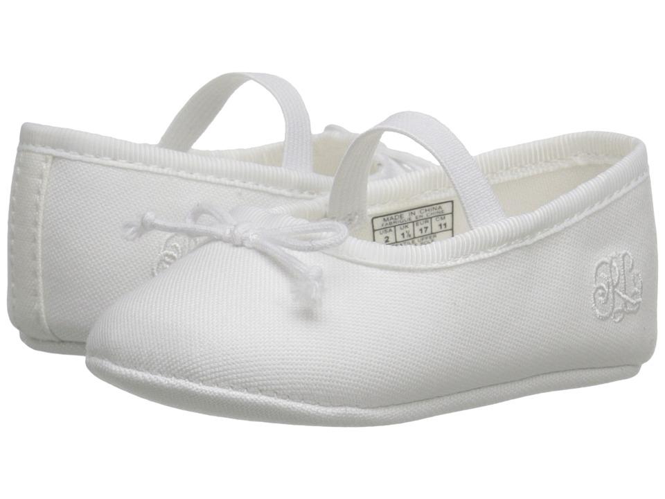 Polo Ralph Lauren Kids - Nellie (Infant/Toddler) (White Oxford) Girl's Shoes