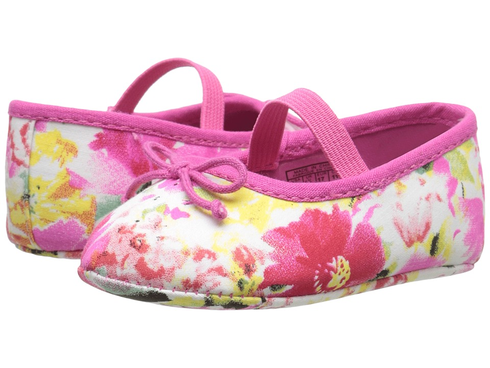 Polo Ralph Lauren Kids - Nellie (Infant/Toddler) (Pink Floral) Girl's Shoes