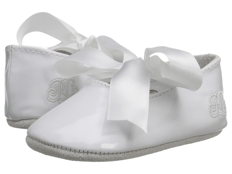 Polo Ralph Lauren Kids - Briley (Infant/Toddler) (White Patent) Girl's Shoes