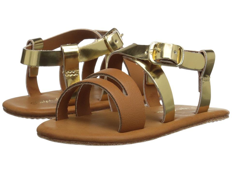 Polo Ralph Lauren Kids - Sabrina (Infant/Toddler) (Gold/Saddle) Girl's Shoes